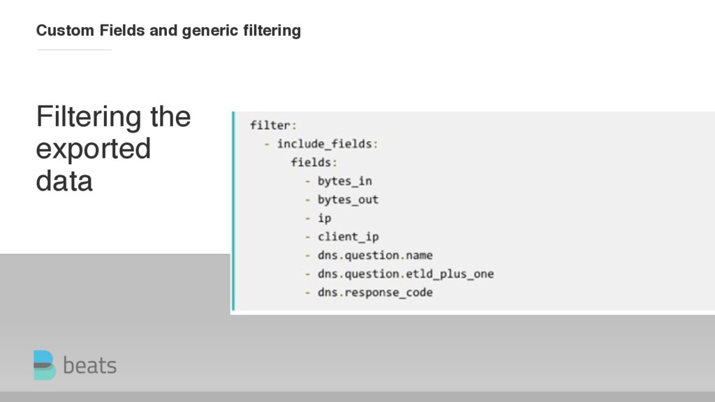Filtering the exported data Custom Fields and g...