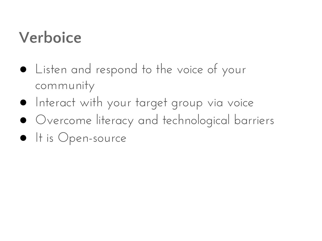 Verboice ● Listen and respond to the voice of y...