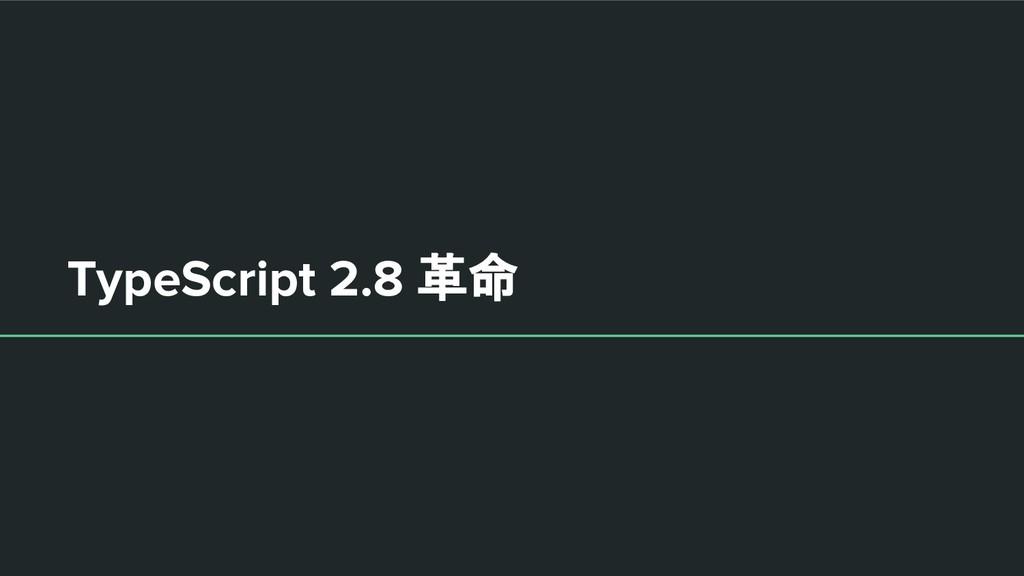 TypeScript 2.8 革命
