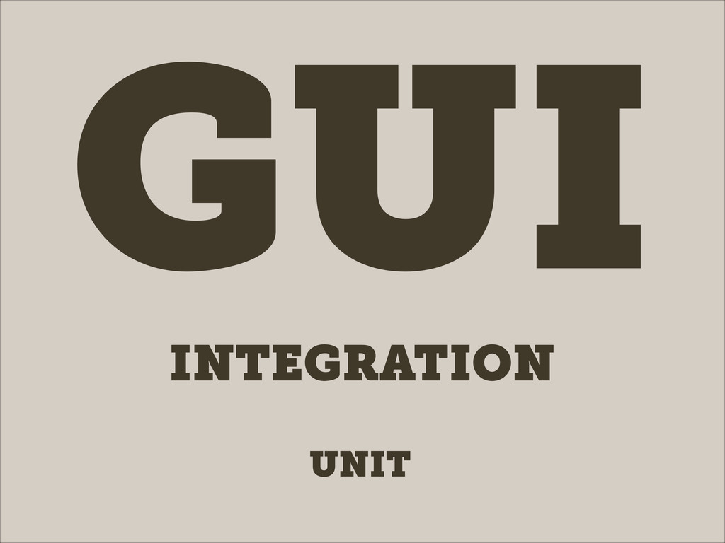 UNIT INTEGRATION GUI
