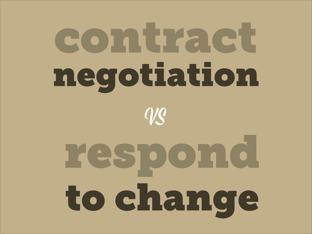 VS contract negotiation respond to change