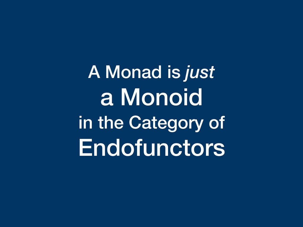 A Monad is just a Monoid in the Category of End...
