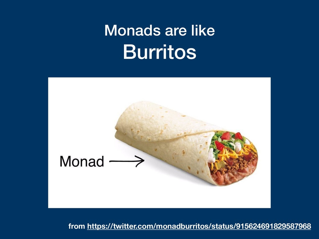 Monads are like