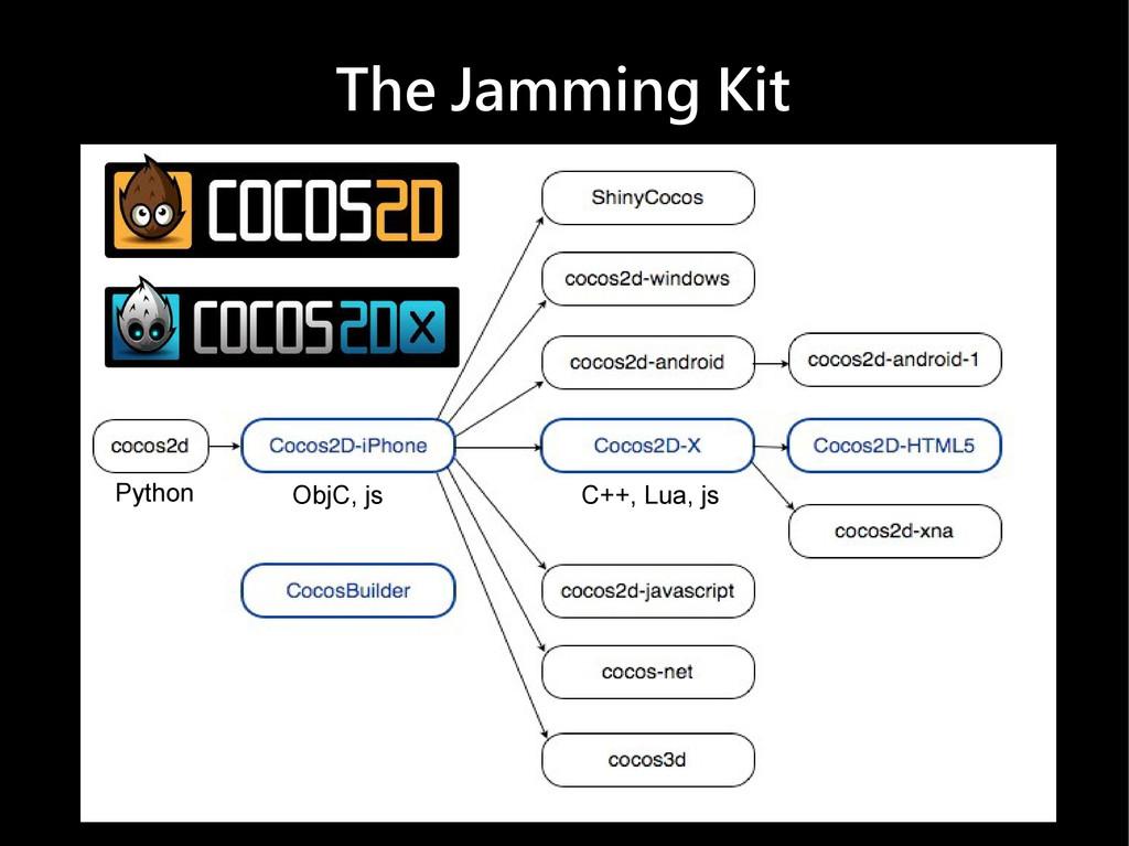 The Jamming Kit Python ObjC, js C++, Lua, js