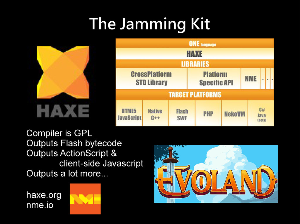 The Jamming Kit Compiler is GPL Outputs Flash b...