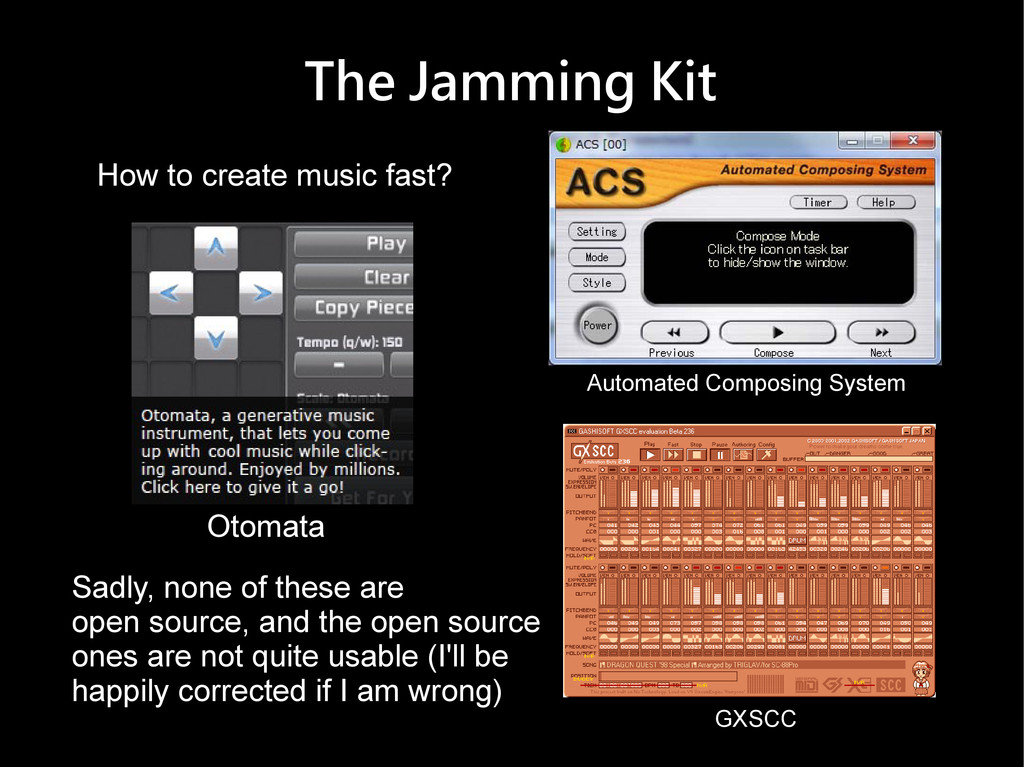 The Jamming Kit Otomata Automated Composing Sys...