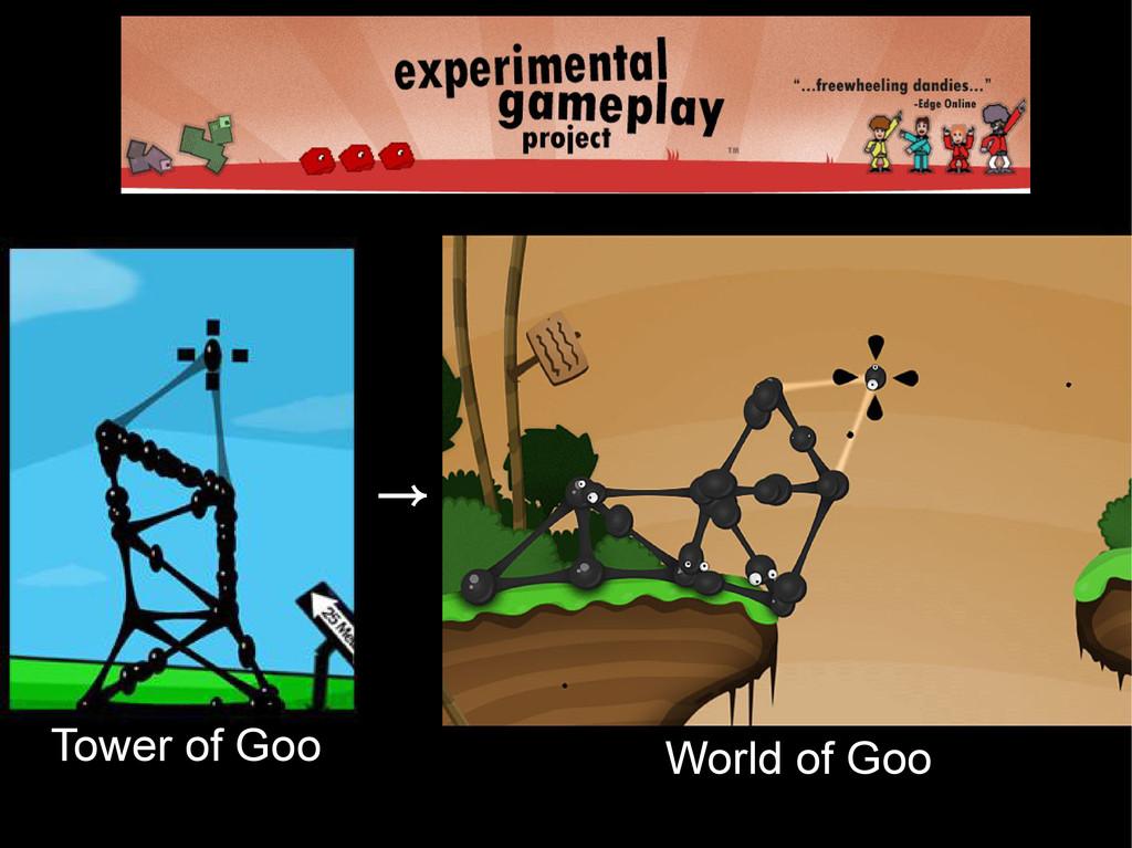 Game Jam(s) Tower of Goo → World of Goo