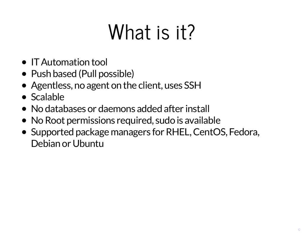 What is it? What is it? IT Automation tool Push...