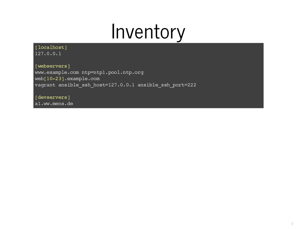 Inventory Inventory [localhost] 127.0.0.1 [webs...