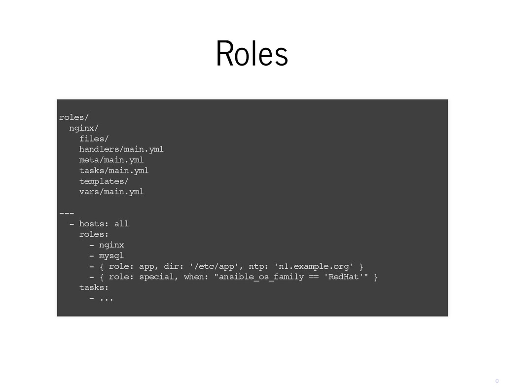 Roles Roles roles/ nginx/ files/ handlers/main....