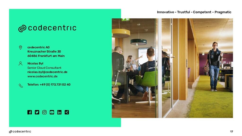 codecentric AG Kreuznacher Straße 30 60486 Fran...