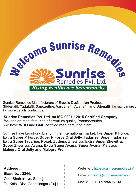 Sunrise Remedies Pvt. Ltd. an ISO 9001 : 2015 C...