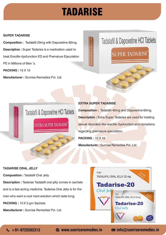 TADARISE SUPER TADARISE Composition : Tadalafil...