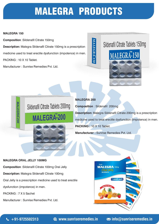 MALEGRA-200 Sildenafil Citrate Tablets 200mg MA...