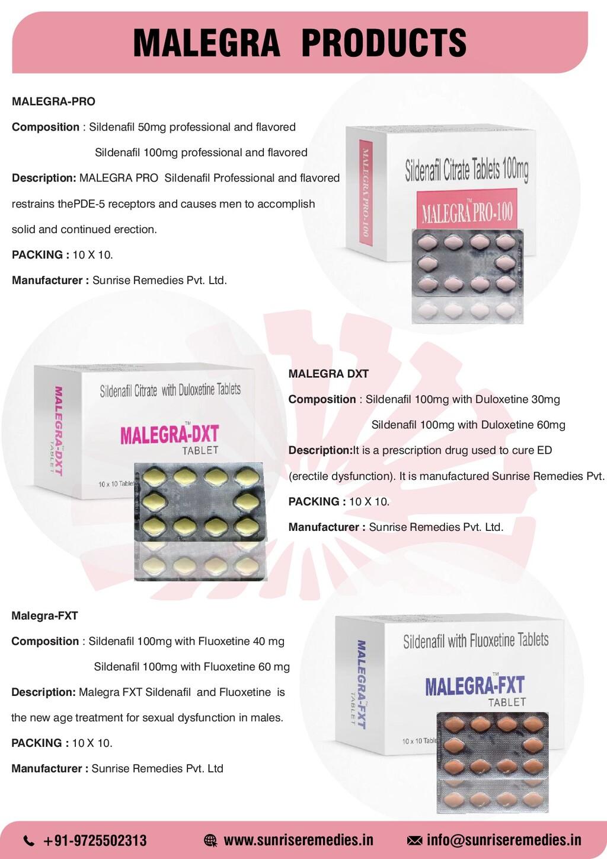 MALEGRA PRODUCTS MALEGRA-PRO Composition : Sild...