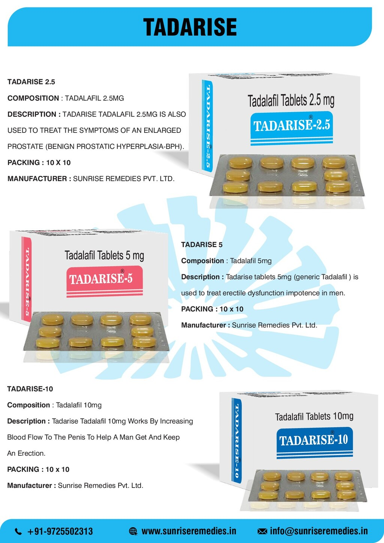 TADARISE TADARISE 2.5 COMPOSITION : TADALAFIL 2...