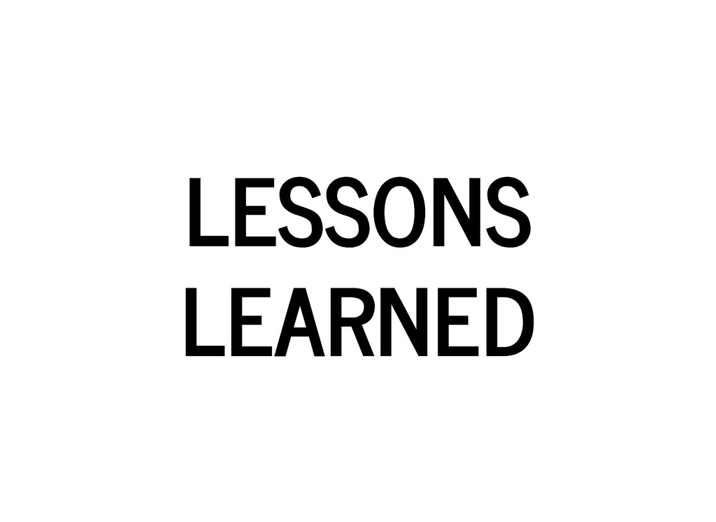 LESSONS LESSONS LEARNED LEARNED