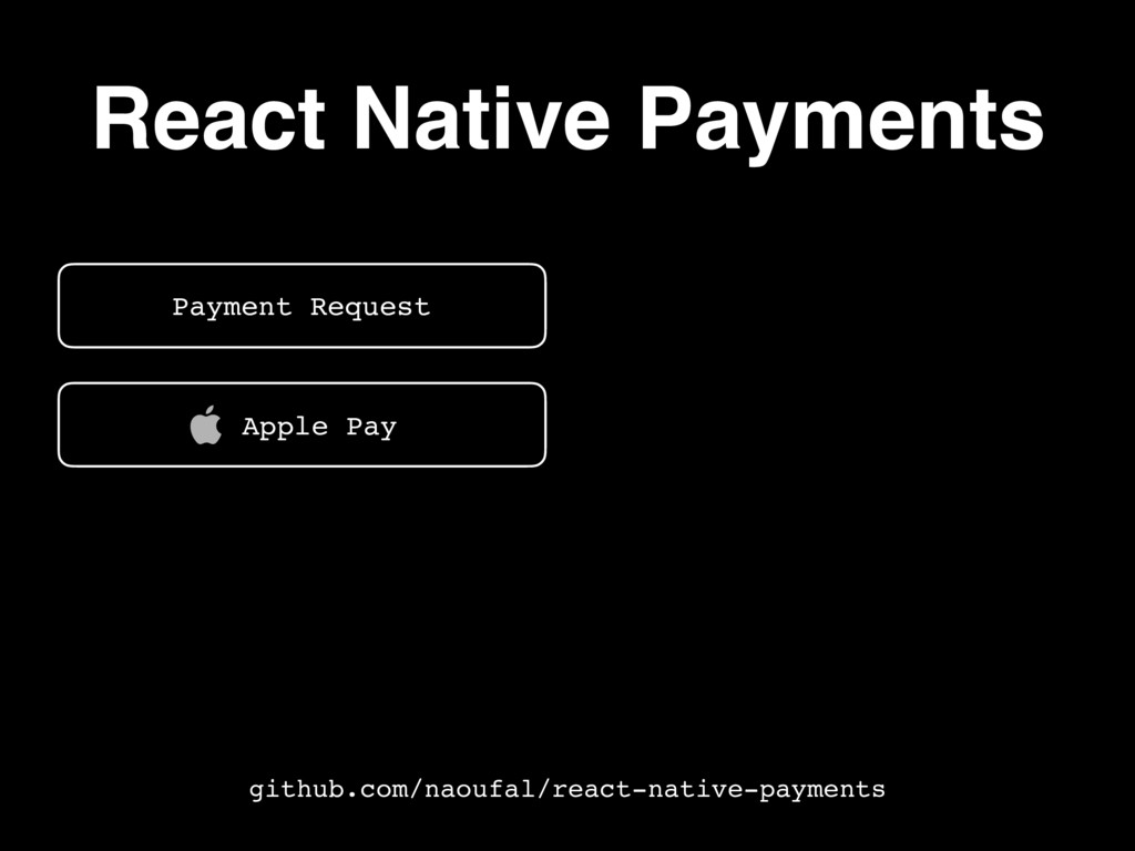 React Native Payments Payment Request Contact I...
