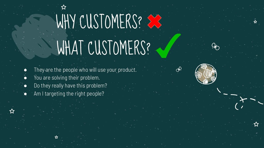 ● They are the people who will use your product...