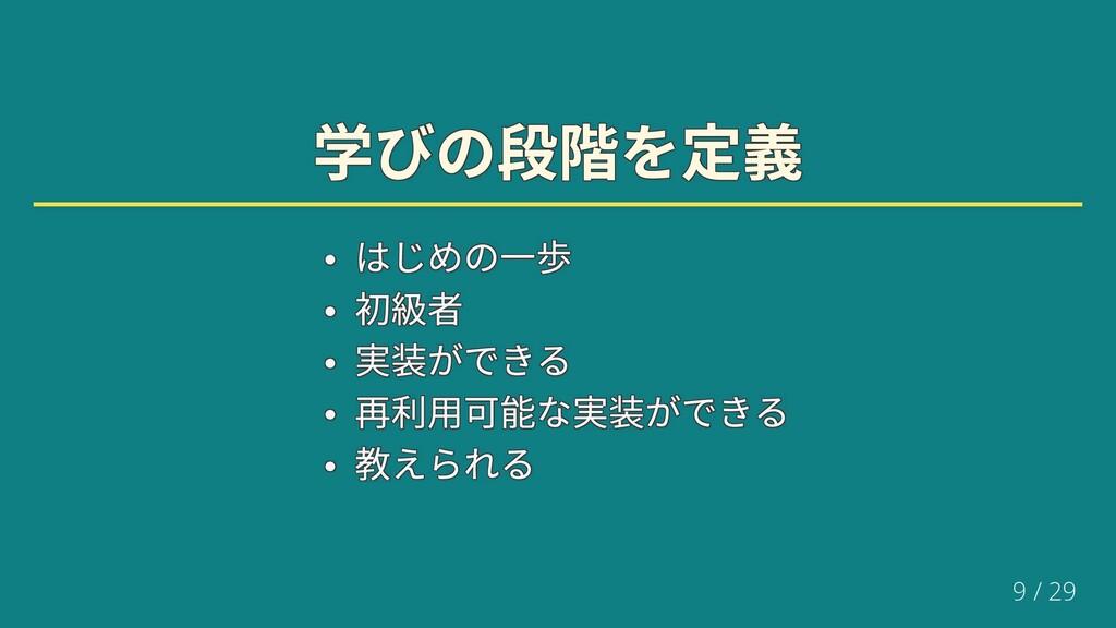 学びの段階を定義 学びの段階を定義 学びの段階を定義 学びの段階を定義 学びの段階を定義 学び...