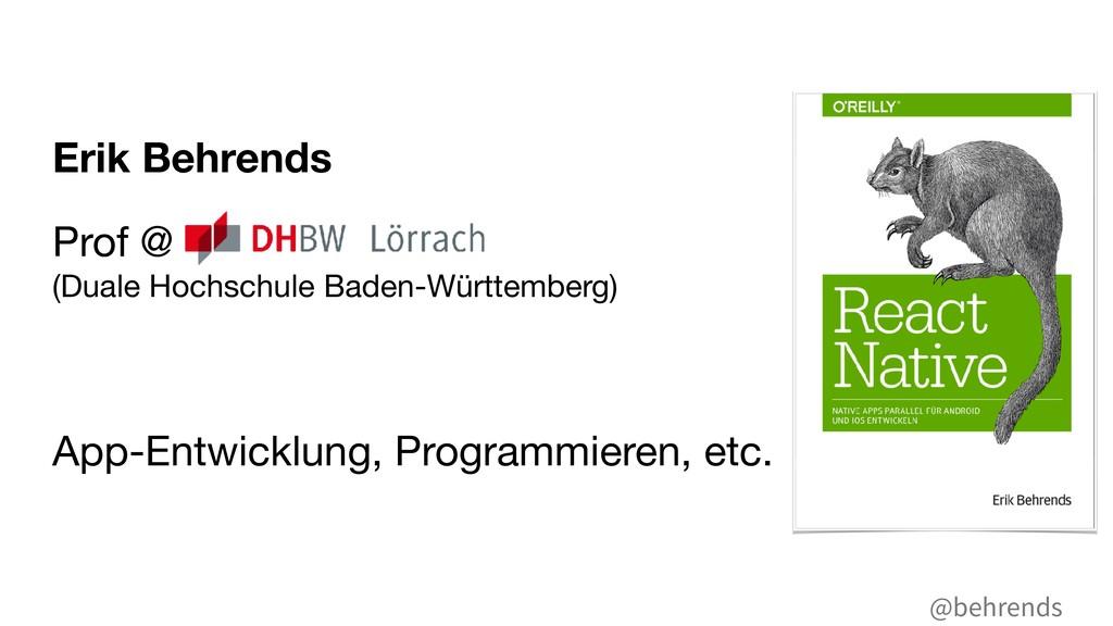 @behrends Erik Behrends Prof @ (Duale Hochschu...