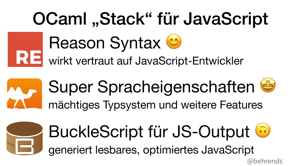 "@behrends OCaml ""Stack"" für JavaScript Reason S..."