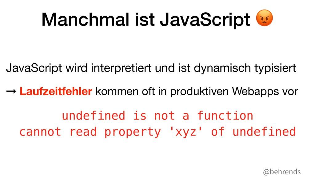 @behrends Manchmal ist JavaScript # JavaScript ...
