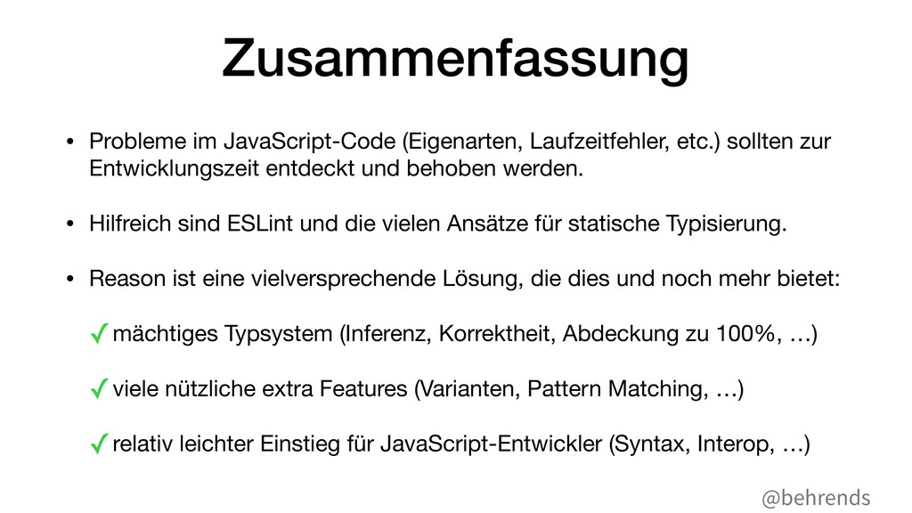 @behrends Zusammenfassung • Probleme im JavaScr...