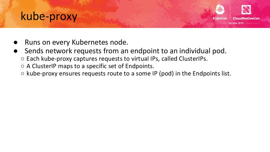 ● Runs on every Kubernetes node. ● Sends networ...