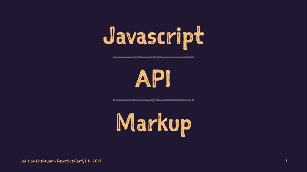 Javascript API Markup Ladislav Prskavec - React...