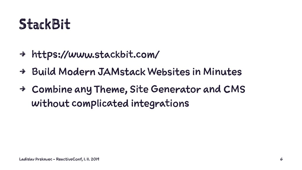 StackBit 4 https://www.stackbit.com/ 4 Build Mo...