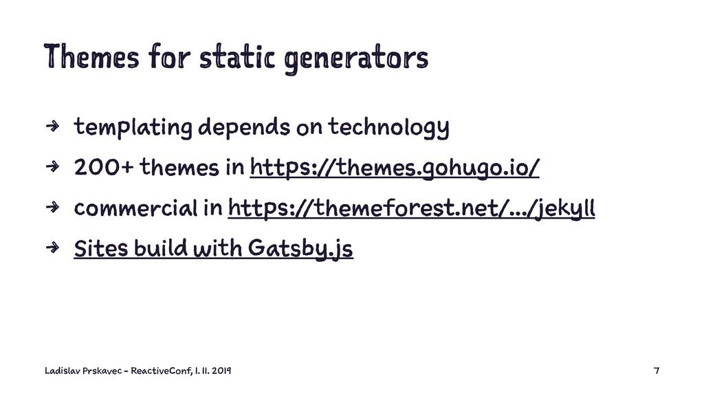 Themes for static generators 4 templating depen...