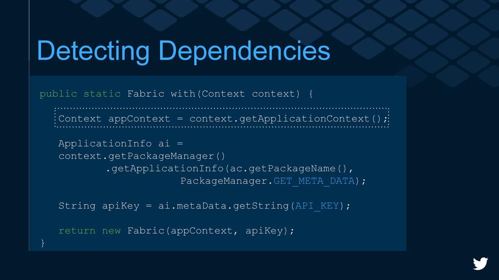 Detecting Dependencies public static Fabric wit...