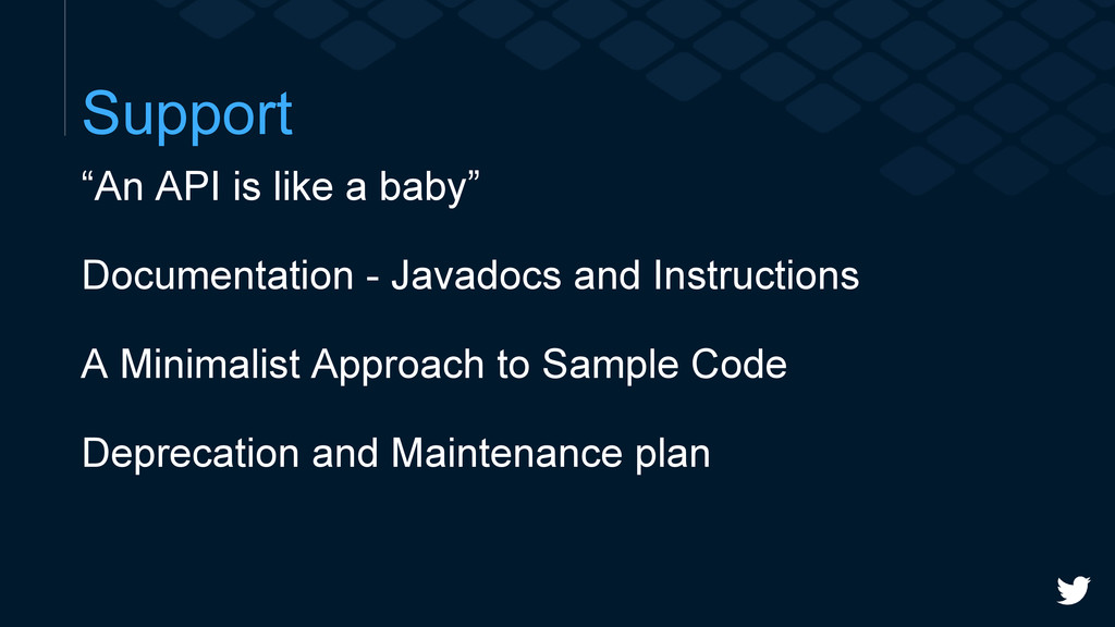"""Support """"An API is like a baby"""" Documentation -..."""