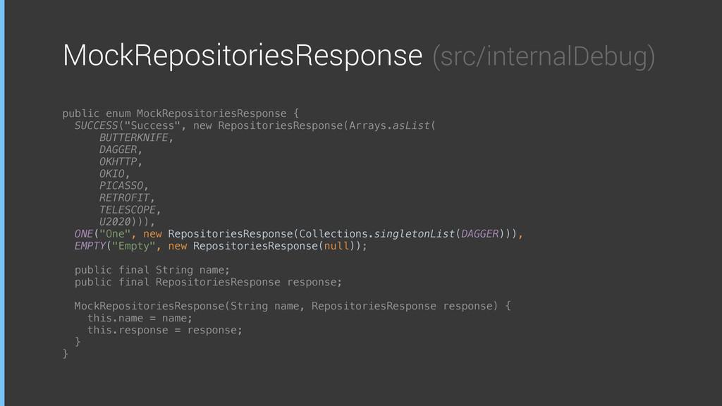 MockRepositoriesResponse (src/internalDebug) pu...