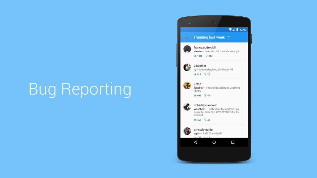 Bug Reporting