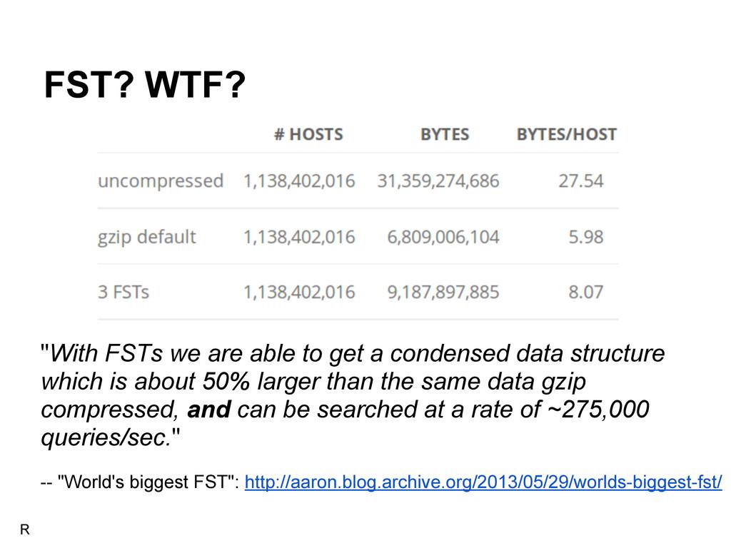 "FST? WTF? -- ""World's biggest FST"": http://aaro..."