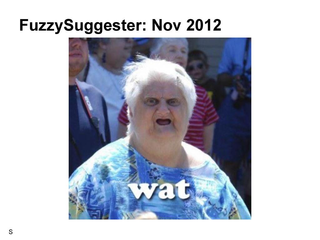FuzzySuggester: Nov 2012 S
