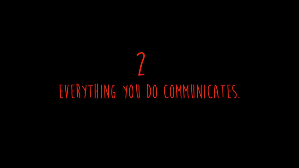 everything you Do communicates. 2