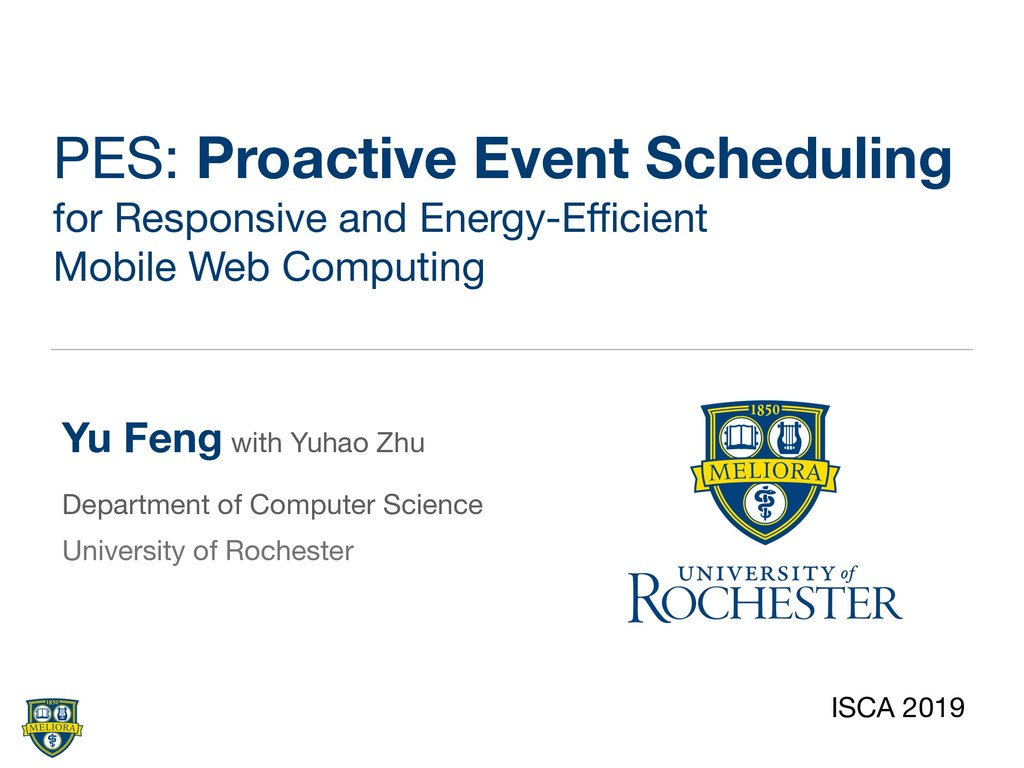 PES: Proactive Event Scheduling for Responsive ...