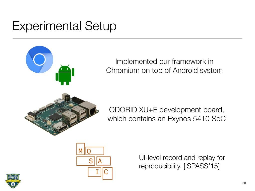 ODORID XU+E development board, which contains a...