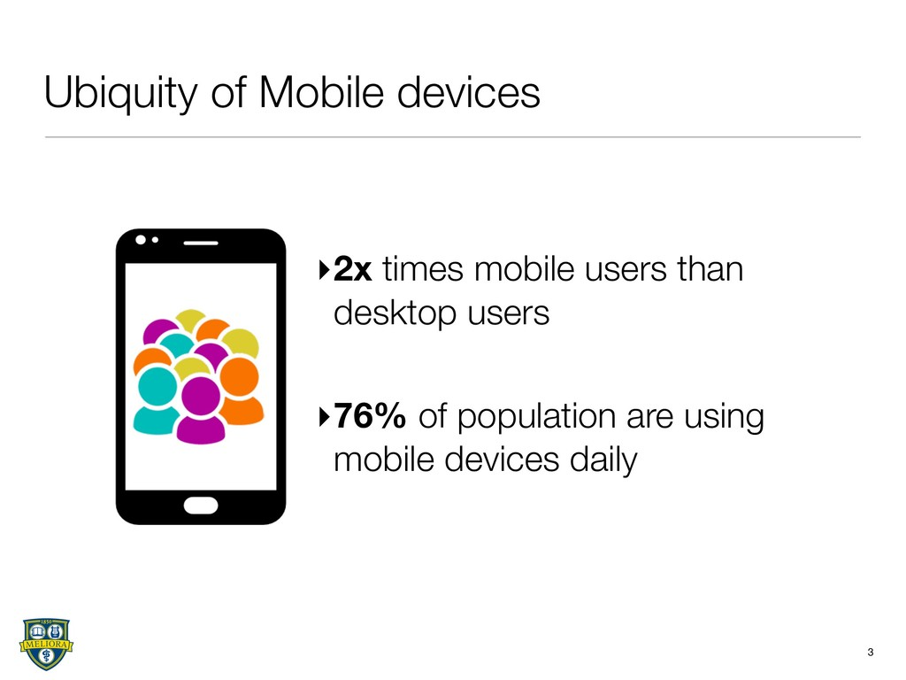 Ubiquity of Mobile devices 3 ▸2x times mobile u...