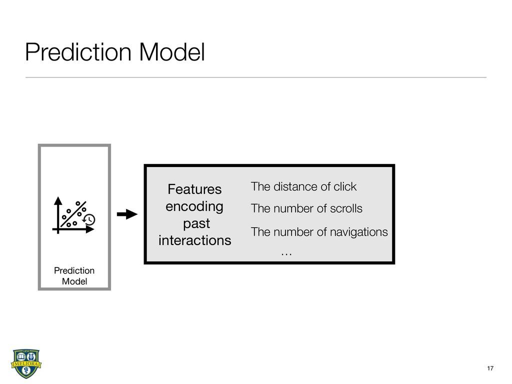 Prediction Model 17 Prediction Model The distan...