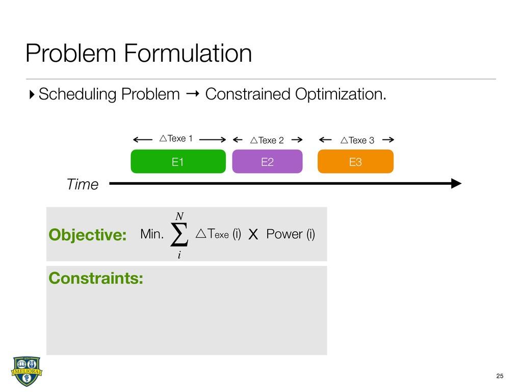 Objective: Constraints: Problem Formulation 25 ...
