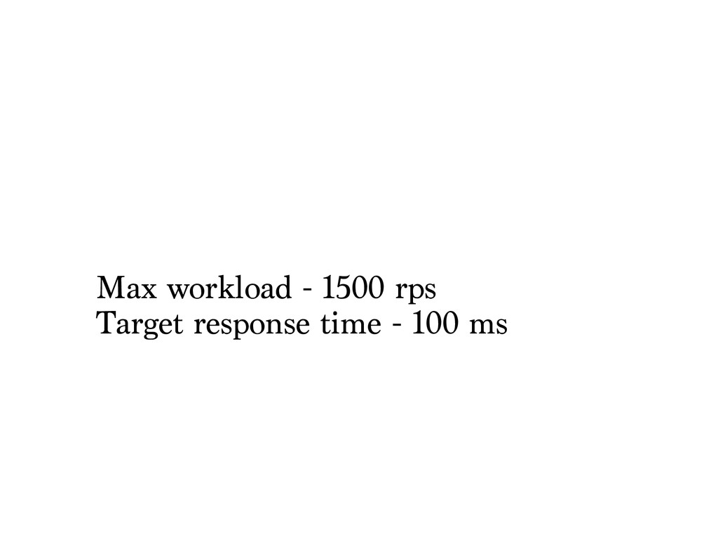 Max workload - 1500 rps Target response time - ...