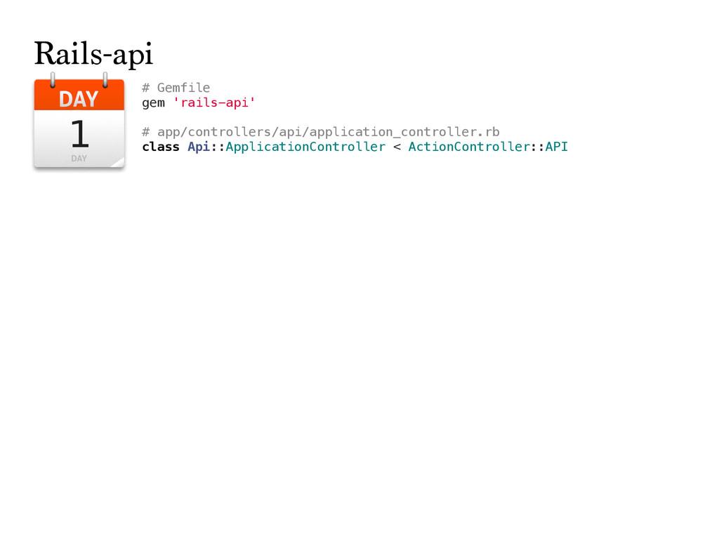 # Gemfile gem 'rails-api' # app/controllers/api...
