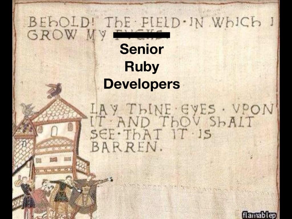 Senior Ruby Developers