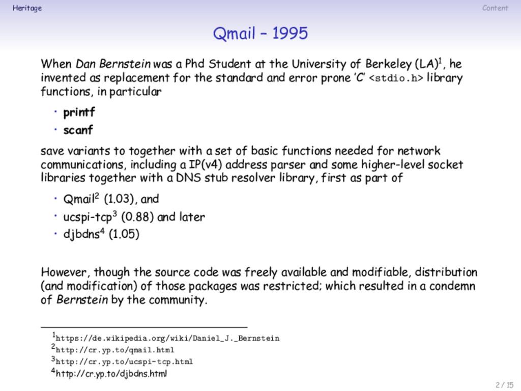 Heritage Content Qmail – 1995 When Dan Bernstei...