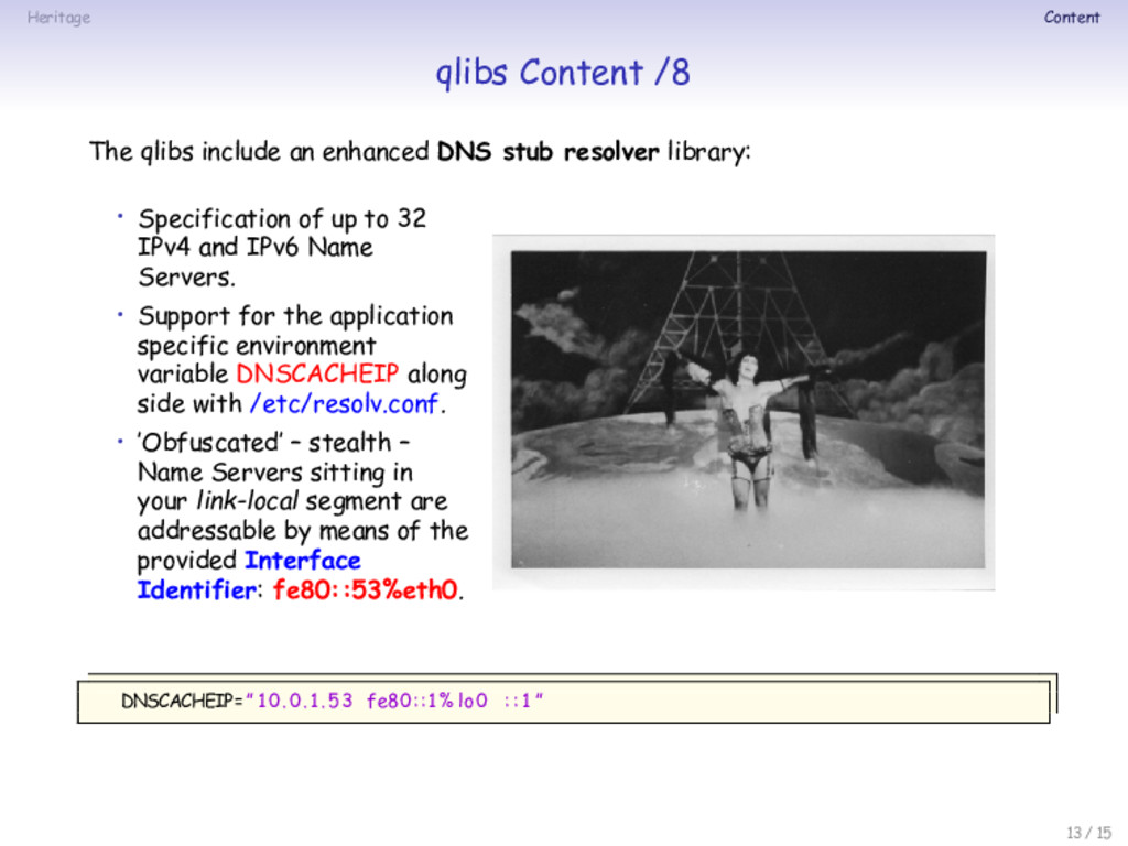 Heritage Content qlibs Content /8 The qlibs inc...