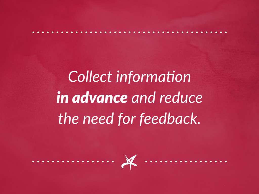 Collect information in advance and reduce the n...